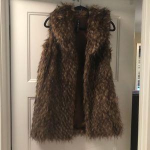 Design Lab M faux fur vest. So soft and fun.